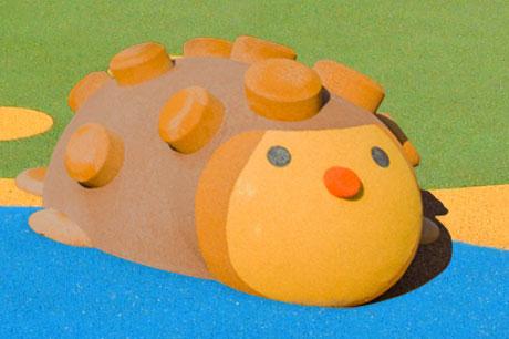 animal 3d epdm en caoutchouc sur une aire de jeux