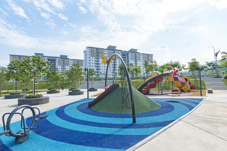 creation aire de jeux publique pour les enfants