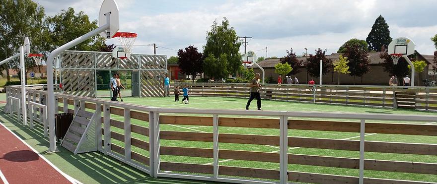 aménagement d'un terrain multisport